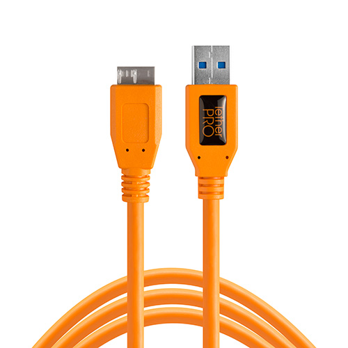 TETHER TOOLS(テザーツールズ) TetherPro USB 3.0 SuperSpeed Micro-B Cable (15ft/4.6m) オレンジ