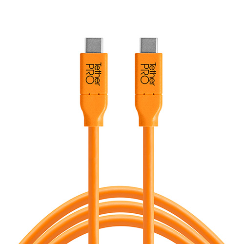 TETHER TOOLS(テザーツールズ) TetherPro USB-C to USB-C (460cm) オレンジ