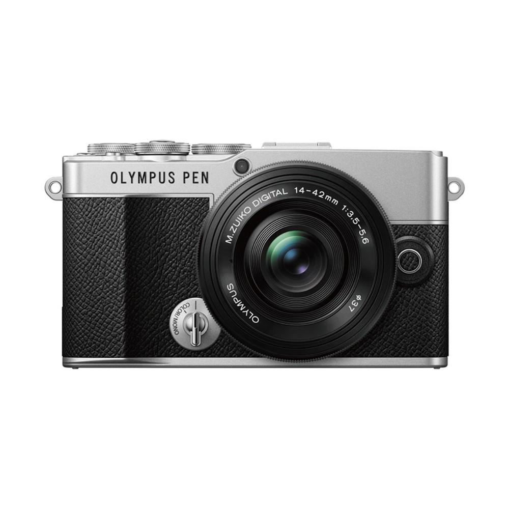 OLYMPUS(オリンパス) PEN E-P7 ミラーレスカメラ 14-42mm EZレンズキット(シルバー)