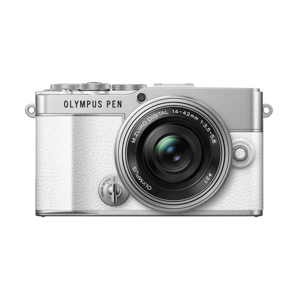 OLYMPUS(オリンパス) PEN E-P7 ミラーレスカメラ 14-42mm EZレンズキット(ホワイト)