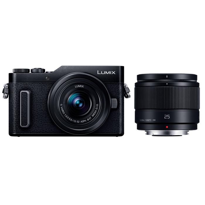 Panasonic(パナソニック) LUMIX デジタル一眼カメラ ダブルレンズキット ブラック/DC-GF10W-K