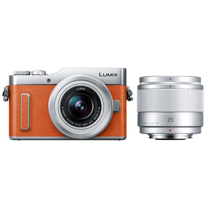 Panasonic(パナソニック) LUMIX デジタル一眼カメラ ダブルレンズキット オレンジ/DC-GF10W-D