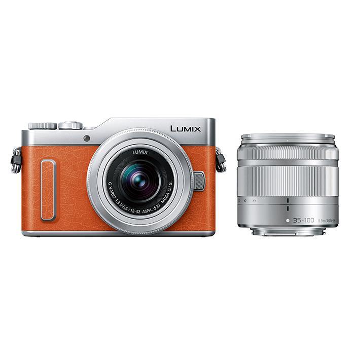 Panasonic(パナソニック) LUMIX デジタル一眼カメラ オレンジ レンズキット/DC-GF10WA-D