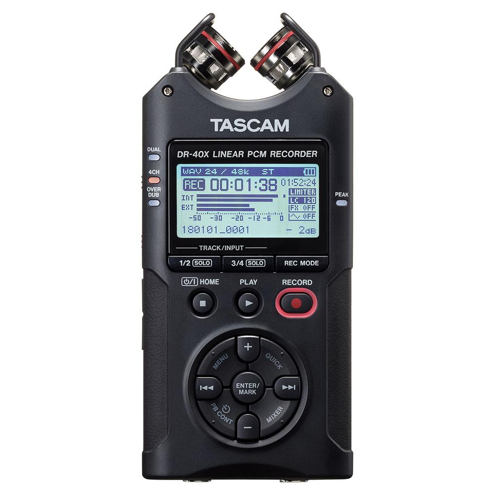 TASCAM(タスカム)DR-40X USB オーディオインターフェース搭載PCMレコーダー(SDカード別売)