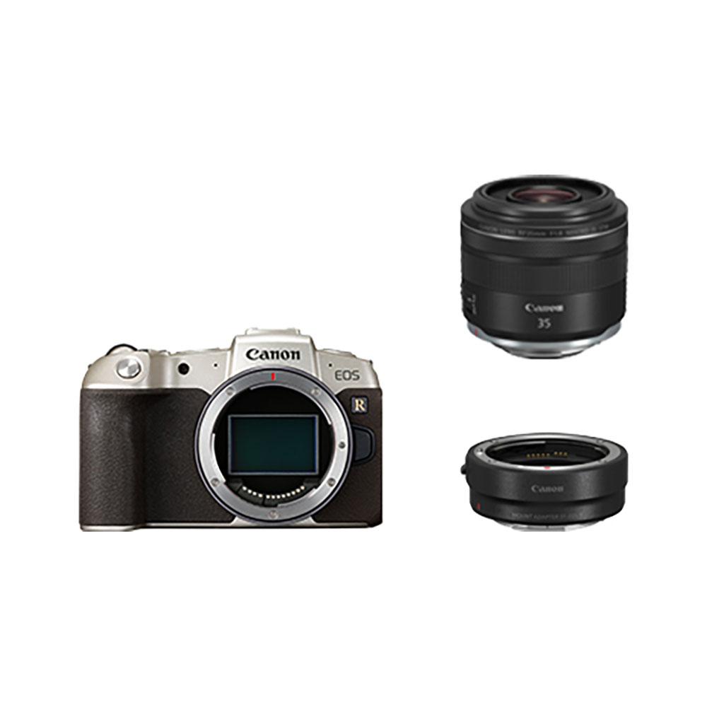 Canon(キヤノン)EOS RP(ゴールド)・RF35 MACRO IS STM マウントアダプターSPキット EOSRPGL-35MISMADK