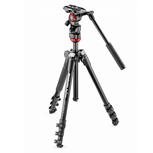 Manfrotto(マンフロット) befree live ビデオ三脚キット MVH400AH付  MVKBFR-LIVE