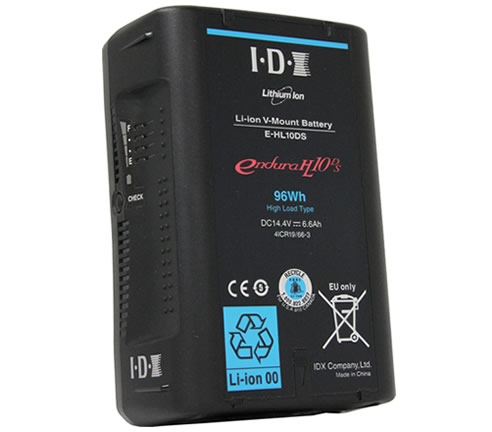 IDX(アイ・ディー・エクス)  E-HL10DS  Vマウントタイプ リチウムイオンバッテリー