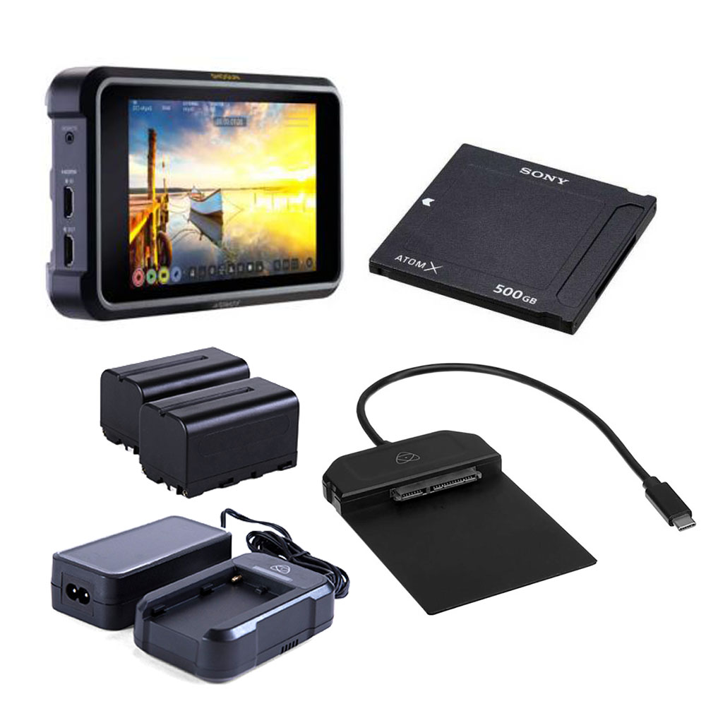 ATOMOS(アトモス) SHOGUN7セット Power Kit+USB-C3.1Docking Station +AtomX SSDmini 500GB セット