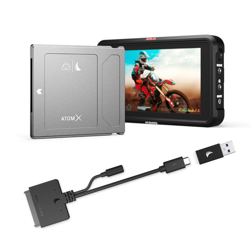 ATOMOS NINJA V+Angelbird ATOMX SSD MINI(500GB)&USB-C to SATAアダプター