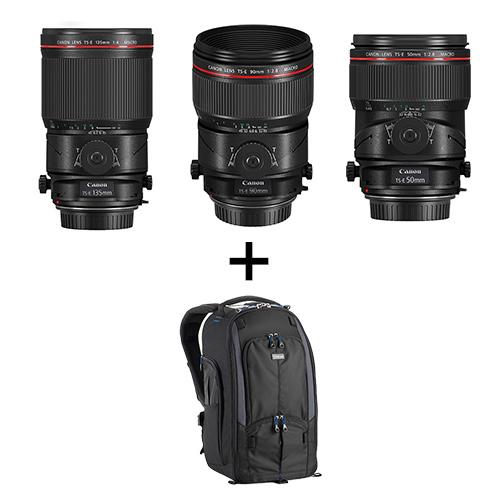 Canon(キヤノン) TS-Eレンズ(50mm/90mm/135mm)+バックパックセット