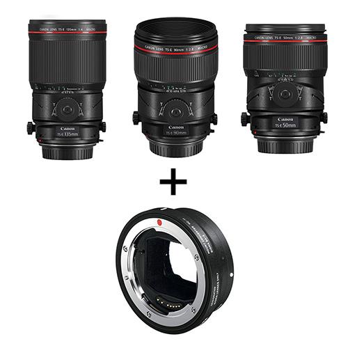 Canon(キヤノン) TS-E マクロレンズ3本(50mm/90mm/135mm) + マウントアダプターMC-11セット
